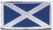 Scotland Saltire Small Rectangular Embroidered Patch (a204)